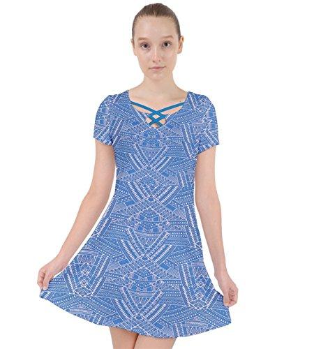 CowCow - Jupe - Femme Colorful Aztec 2 Bleu