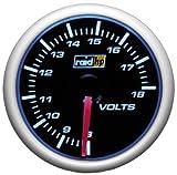 Raid HP 660186 Voltanzeige, Zusatzinstrument Night Flight Blau