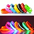 Namsan LED Light Armband Safely Walking/Running Flashing Wristband,Keep Children Safer,Night Cycling Jogging Reflective Armband,Visible Outdoor Enthusiasts Lighting Hip-Hop Performances Props,7 Colors Available by Namsan