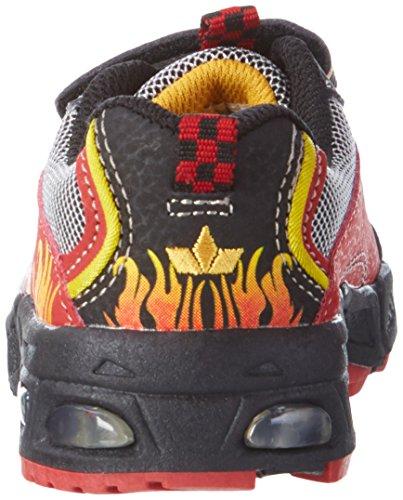 Lico Hot V Blinky Jungen Sneakers Mehrfarbig (ROT/SCHWARZ/GELB)