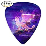 Star Dragon Guitar Picks 12 Pack Set Celluloid Medium Paddles Plectrums 0.46mm/0.71mm/0.96mm Instruments Bass For Guitarist Players