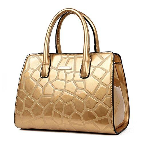 GAVERIL Borsette da donna di design in pelle verniciata per donna in vendita Oro