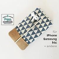 iPhone-Tasche Petrol / Handytasche / Smartphone Case / Vegane Handytasche / Vegane Accessoires / Geschenk zum Muttertag
