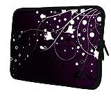 Ektor Hülle/Sleeve / Tasche für 25,4-44,7 cm (10-17,6 Zoll) Laptops/Notebooks, in Unterschiedlichen Mustern und Größen erhältlich (Teil 2 von 3) Blumen/Sterne 13