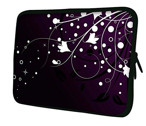 """Ektor Hülle/Sleeve/Tasche für 25,4-44,7 cm (10-17,6 Zoll) Laptops/Notebooks, in unterschiedlichen Mustern und Größen erhältlich (Teil 2 von 3) Blumen/Sterne 13"""" (250x330mm)"""