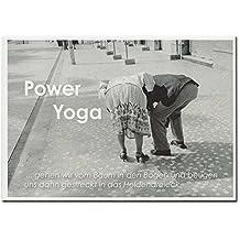 Rannenberg Postkarte Karte Power Yoga Schwarz Weiß