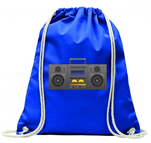 "Turnbeutel \""BOOMBOX- GHETTO BLASTER- AUDIO PLAYER- CD SPIELER- MUSIK PLAYER- RADIO- BLÄSER- STEREO- GHETTO- MUSIK- BOX- RETRO\"" mit Kordel - 100{83afc8155497c49a8383cf2aaf3faea71732a9872b0c52a115bfcedfe996bb1f} Baumwolle- Gymbag- Rucksack- Sportbeutel"