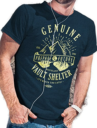 LeRage Shirts Herren T-Shirt Blau Blau