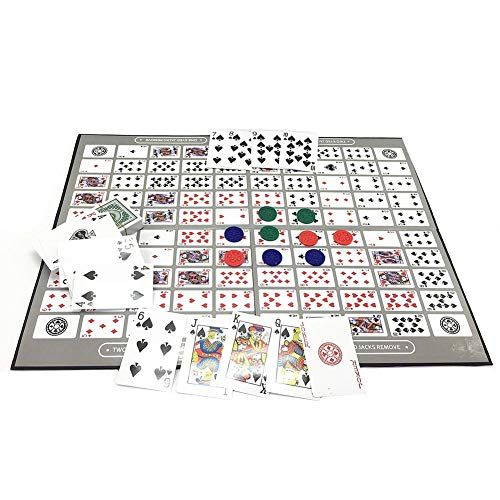 Big Chess Board Game Table Spielmuster Deluxe Sequence Tin (Englisch und Arabisch) Family Board-Spiel, Sequence Game Schach Family Game Toy -