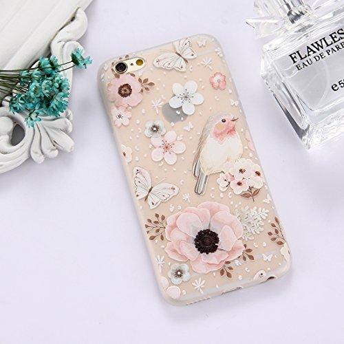 Phone Case & Hülle Für iPhone 6 & 6s TPU bereifte prägeartige Tulpe-Mädchen-Muster-schützende Fall-rückseitige Abdeckung ( Size : Ip6g5303m )