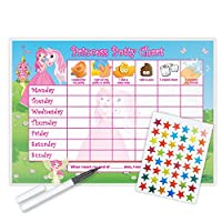 Princess Potty Training Reward Chart (including FREE Star Stickers and Pen)