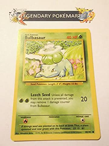 Pokemon Base Set Common Card #44/102 Bulbasaur