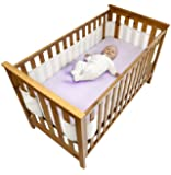 Safe Dreams 4-Sided Cot Wrap with 100% cotton surface (White)
