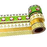 K-LIMIT 6er Set Washi Tape Dekoband Masking Tape Klebeband Scrapbooking DIY Weihnachten Christmas Nikolaus Tannenbaum 6165