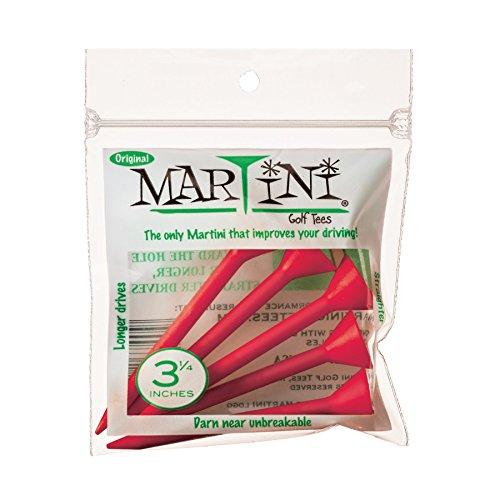 Martini Golf 3–1/10,2cm langlebigem Kunststoff Tees 5er Pack (verschiedene Farben), DMT003-FLAME, flame