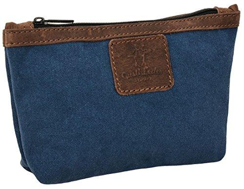 """Gusti Cuir studio """"Sydney"""" trousse à maquillage en cuir trousse de toilette en cuir véritable sac à main cuir besace en cuir pratique petit vintage sac voyage bagage à main en cuir bleu 2S31-26-58"""