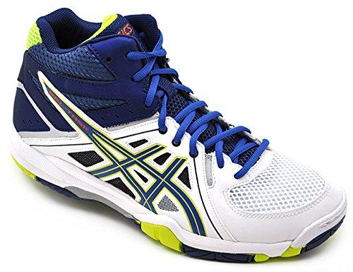 Asics Scarpe Volley Uomo Gel Task MT - B506Y-0142 Bianco / Blu-41.5