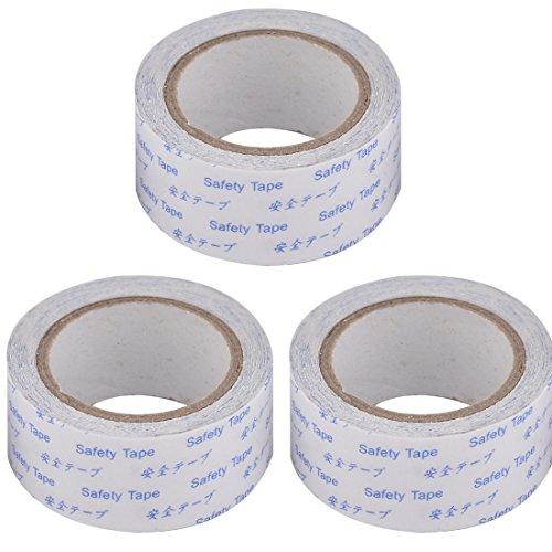 sourcingmap 3pcs 5,5 x 2,5cm PVC doppelseitig DIY Box Paket Karton Abdichtung Klebeband (Bereich Elektro-backofen)