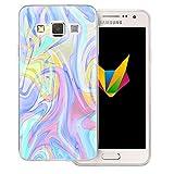 Mobilefox Liquid transparente Silikon TPU Schutzhülle 0,7mm dünne Handy Soft Case für Samsung Galaxy A3 (2014-2015) Liquid Lila - Verlauf Hülle Cover