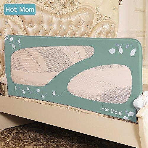 Hot Mom Bettgitter für Kinderbett Ausfallschutz baby bett extra large bettschutzgitter,150 cm Länge (Grün)
