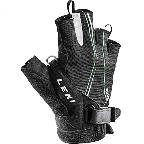 Leki Nordic Walking Handschuhe Lite Shark Short 63690123 Schwarz/ Neongrün/ Weiß 11
