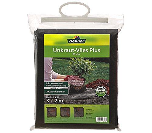 Dehner Garten Unkraut-Vlies Plus, ca. 3 x 2 m, schwarz