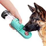 Pet Drinking Water Bottle, Portable Travel Drawer-Style Reversible & Lightweight Water Cup Dispenser