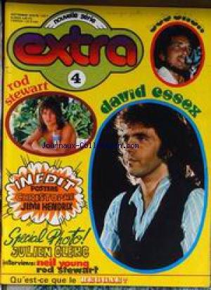 EXTRA [No 4] du 01/09/1975 - BOB DILAN - DAVID ESSEX - ROD STEWART - CHRISTOPHE - JIMI HENDRIX - JULIEN CLERC - NEIL YOUNG - LE REGGAE
