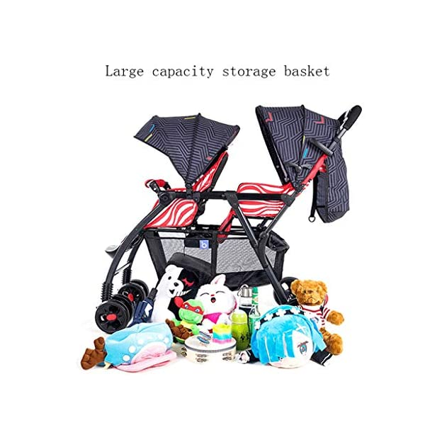 Pushchairs Prams Lightweight Double Stroller, Foldable Reflective Five-point Seat Belt Brake Damping Design Adjustable Twin Stroller Baby Pushchairs (Color : Red) LOFAMI-Pushchairs ★ The stroller is an essential tool for the baby to travel, so that the baby can sit or lie inside, and the parents can push the car to walk, The baby stroller can let the baby rest and play in addition to the baby. ★ Pushchairs Strollers Toddlers Prams Travel Girls Car Seat Baby Cover Pink Lightweight Wheels Organizer Buggies Boys Pram Trolleys Raincover Twins Blue System Reclines Combo Fold Tricycles Toys Carrier Set Holder High Bassinet Adjustable Black Newborns Plastic Visor Carriage Airplane Awning Safety Base Basket Compact Single Luxury Pushchair Kids' Trikes Landscape Portable Large Storage Height Children Folding Parasol Sunshade Clips Liner Babies Universal Rain Grey Clip White Green. Lightweight double stroller for easy access to elevators, subway gates, etc., weighing only 8.9kg, small size and space saving. 3