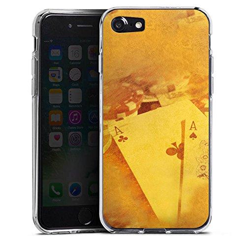 Apple iPhone X Silikon Hülle Case Schutzhülle Karten Poker Casino Silikon Case transparent