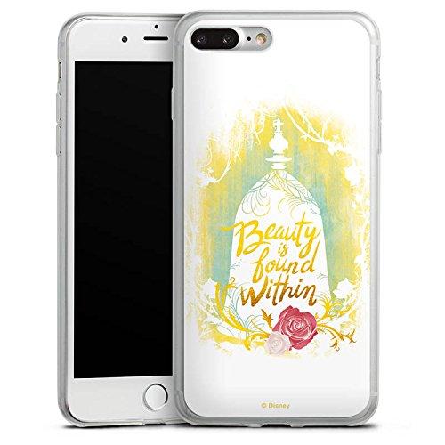 Apple iPhone 8 Slim Case Silikon Hülle Schutzhülle Die Schöne und das Biest Disney Rose Silikon Slim Case transparent