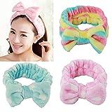 Golden Rule 3 pièces Cheveux nœuds pour filles Mode Lovely élastique souple Bandeau Cheveux Maquillage Douche Bandeau Hairlace Headwear
