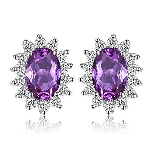 .5ct Prinzessin Diana William Kate Middletons Erstellte Alexandrit Sapphire Ohrstecker 925 Sterling Silber ()