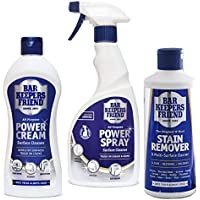 Bar Keepers Friend Universal Multi Surface Cleaner Stain Remover Powder, Cream & Spray Kit