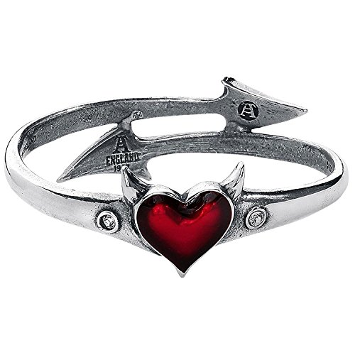 Alchimie Gothic Teufel Herz Zinn Mode Armband