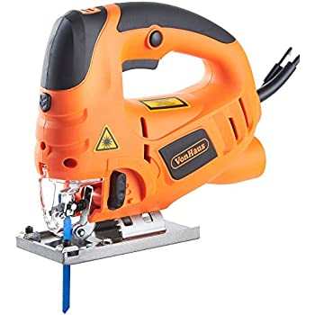 Blackdecker ks501 gb compact jigsaw with blade 400 w amazon vonhaus 800w electric jigsaw with laser guide pendulum variable speeds splinter guard dust extraction port 3 blades strong cast aluminium base greentooth Gallery