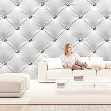 murando - Fototapete Leder-Optik 500x280 cm - Vlies Tapete - Moderne Wanddeko - Design Tapete – Polster Ilussion helle dezente Farbe f-B-0040-a-a