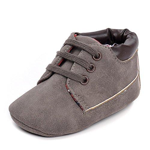 Infantis Jovens Sneakers Marinha Marrom Tamanho Pu 12-18 Meses Cinza