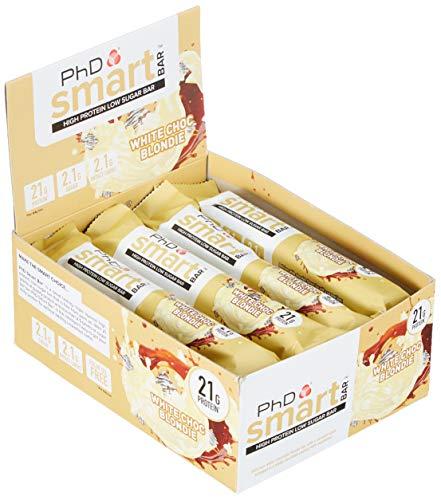 PHD Smart Bar White Chocolate Blondie, 12 bars x 64 g - White Bar