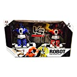 #8: PRINCE TOYS PRESENTS Set of 2 Robots Fighting with Remote Control With a Hit Sensor & Charger RC Robots