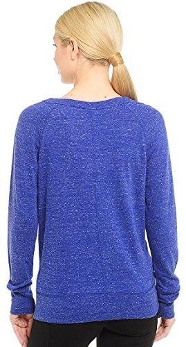 Nike W Nsw Gym Vntg Crew Damen-Langarmshirt Blau (Deep Royal Blue/Sail)