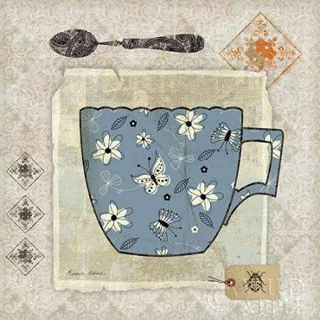 Impresión de Arte Fino en lienzo : Garden Cafe IV by Aldrich, Belinda - pequeña (30 x 30 Cms)