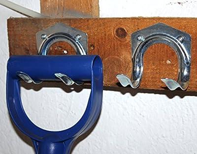 Gerätehalter 5 x Besenhalter -K&B Vertrieb- Wandhalterung Werkzeughalterung Werkzeughalter 317