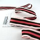 kawenSTOFFE Gurtband - Hutband - Sägekante - 3 cm - rosa - gestreift