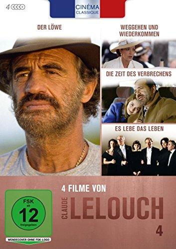 Bild von Cinéma Classique Claude Lelouch - Box 4: Weggehen und Wiederkommen / Es lebe das Leben / Die Zeit des Verbrechens / Der Löwe [4 DVDs]