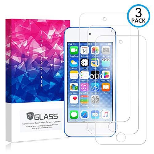 Ycloud [3 Pack] Panzerglas Displayschutzfolie für Apple iPod Touch 5 / Touch 6, Hartglas Staubdichter, 9H kratzfester Displayschutz Protector für Apple iPod Touch 5 / Touch 6