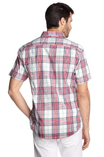 ESPRIT - Casual shirt - Manches 1/2 - Homme Rouge (Dusky Rose 674)