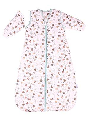 Saco de dormir para bebé Slumbersac con Mangas Largas REMOVIBLES - Búho, 2.5 Tog, varios tamaños