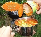 OUTDOOR FREAKZ Camping-Kochtopf Set aus Edelstahl, Kochgeschirr und Camping Kochtöpfe (1 Person) -