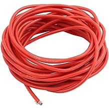 sourcingmap® 5 metros 17AWG Cable de cobre flexible trenzado de cable de silicona para RC Indicador rojo